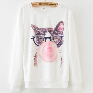 NEW! Marilyn Monroe Bubble Gum Kitty Cat Sweater